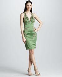 Mandalay - Racerback Beaded Sleeveless Dress - Lyst