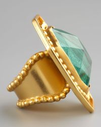 Stephanie Anne Malachite Ring green - Lyst