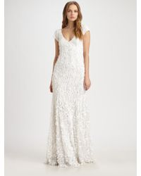 Theia Petal Gown - Lyst