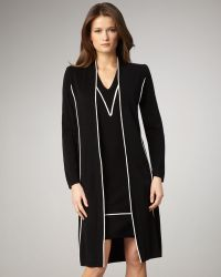 Misook Collection - Contrast Long Jacket - Lyst