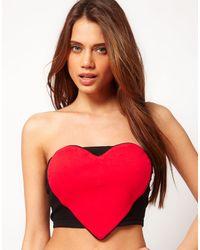 ASOS Collection Asos Heart Bustier - Lyst