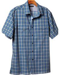 Banana Republic Shortsleeve Plaid Utility Shirt - Lyst
