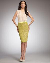 Robert Rodriguez - Sequined Pencil Skirt - Lyst