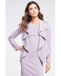 St. John Collection Ruffle Milano Knit Jacket - Lyst