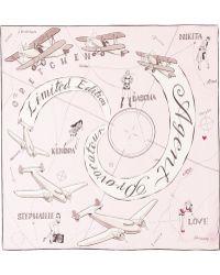 Agent Provocateur - Arlene Aviation Print Silk Twill Scarf - Lyst