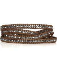 Chan Luu - Swarvoski Crystal and Leather Fivewrap Bracelet - Lyst