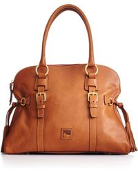 Dooney & Bourke Florentine Domed Buckle Satchel - Lyst