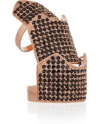 Eddie Borgo Hinged Rose Goldplated Crystal Ring - Lyst