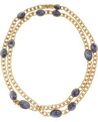 Emilio Pucci - Sodalite Chain Necklace - Lyst