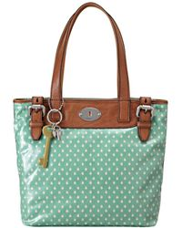 Fossil Vintage Keyper Coated Canvas Shopper - Lyst