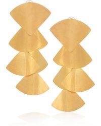 Herve Van Der Straeten 24karat Goldplated Clip Earrings - Lyst