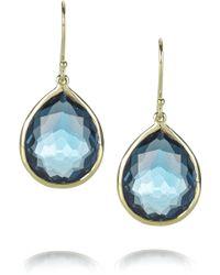 Ippolita - Teardrop 18karat Gold Topaz Drop Earrings - Lyst