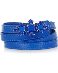 Marni Crystal Embellished Leather Waist Belt - Lyst