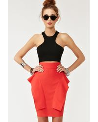 Nasty Gal Perfect Peplum Skirt - Lyst