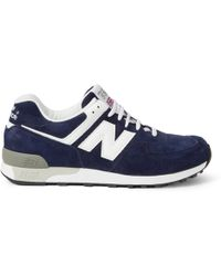 new product bb244 bc193 Lyst - New Balance 576 Classic Suede Sneakers in Blue for Men