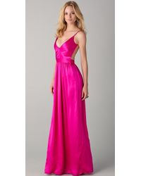 One By Contrarian Babs Bibb Maxi Dress pink - Lyst