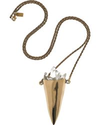 Pamela Love Bronze and Quartz Necklace - Lyst