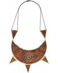 Pamela Love Zellij Brass and Lasercut Wood Necklace - Lyst