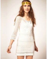 Pepe Jeans - Pepe Jeans Crochet Dress with Long Sleeves - Lyst