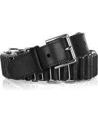 Ralph Lauren Collection - Leather and Chain Belt - Lyst