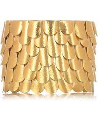 Sophia Kokosalaki Gold-Plated Silver Tiered Cuff gold - Lyst