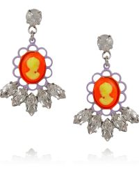 Tom Binns - Swarovski Crystal Cameo Earrings - Lyst