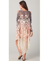 Twelfth Street Cynthia Vincent - Cold Shoulder Maxi Caftan Dress - Lyst