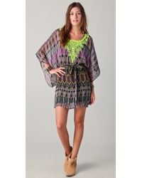 Twelfth Street Cynthia Vincent - Embroidered Caftan Dress - Lyst