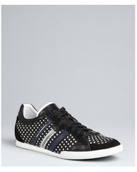 Y-3 Black Polka Dot Nylon Lace Up Sneakers - Lyst