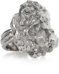 Saint Laurent Arty Too Silverplated Ring - Lyst