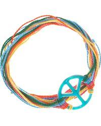 Aurelie Bidermann Mother-Of-Pearl Peace Charm Bracelet - Lyst