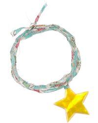 Aurelie Bidermann Mother-Of-Pearl Star Charm Bracelet - Lyst