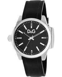 D&G Womens Black Leather Strap 42mm - Lyst