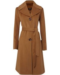Ellen Tracy - Wool Blend Belted Coat - Lyst