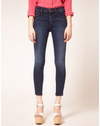 Goldsign Goldsign Virtual Skinny High Waisted Jeans in Zagire blue - Lyst