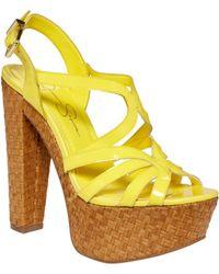 Jessica Simpson Cizal Wedge Sandals - Lyst