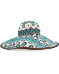 Missoni Crochetknit Widebrimmed Hat blue - Lyst