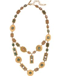 Oscar de la Renta 24karat Goldplated Geometric Necklace - Lyst