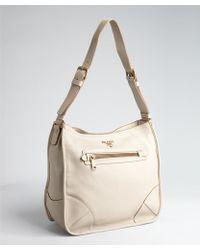 Prada Saffiano Bicolor Dome Bag gray - Lyst