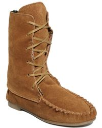 Steve Madden Tblanket Moccasin Booties - Lyst