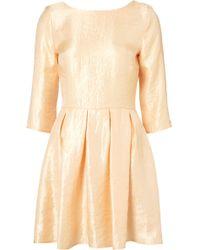 Topshop Shimmer Skater Dress - Lyst