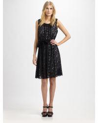 DKNY - Sleeveless Lace Dress - Lyst