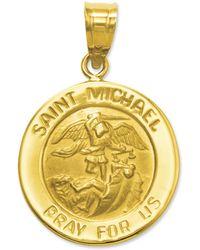 Eci Saint Michael Medal Charm - Lyst