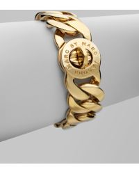 Marc By Marc Jacobs Turnlock Bracelet gold - Lyst