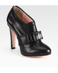 RED Valentino Leather Buckle Ankle Boots - Lyst