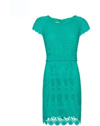 Mango Lace Edge Dress - Lyst