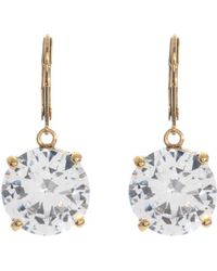 Betsey Johnson Circle Crystal Drop Earrings - Lyst