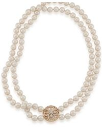 Eci - Double Strand Glass Pearl Necklace - Lyst