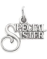 Eci - Sterling Silver Special Sister Charm - Lyst