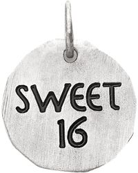 Eci - Sterling Silver Sweet 16 Charm - Lyst